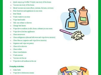 The 5 day cleaning list