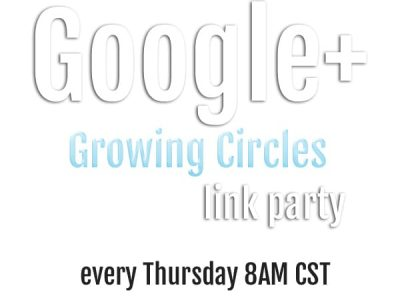Google+ growing circles link party ad