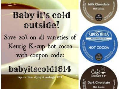 Different hot chocolate K-cup brands