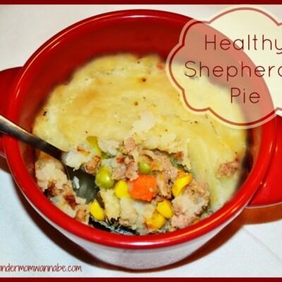 Shepherd's pie in red bowl