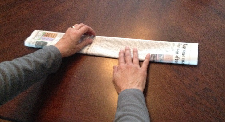 Fold Newspaper in Half Again