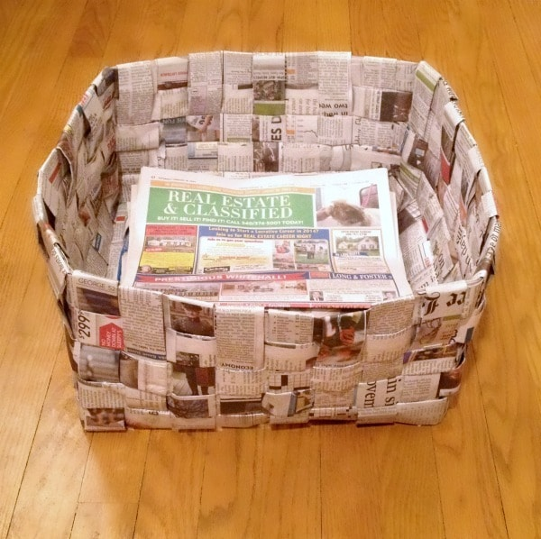 Newspaper Recycling Bin