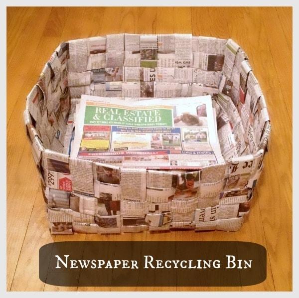 Newspaper Recycling Bin