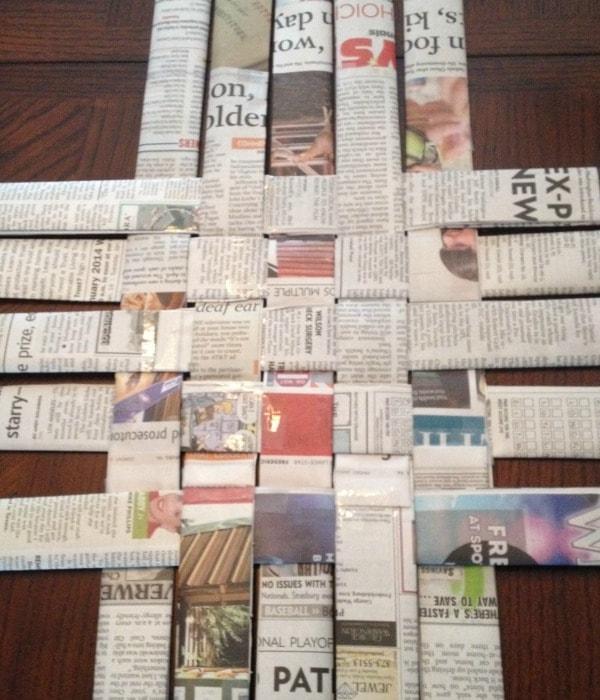 Newspaper Strip Weave