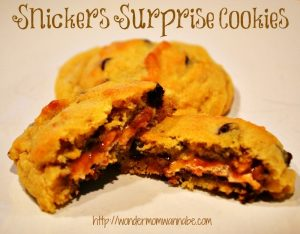 Snickers Surprise Cookies