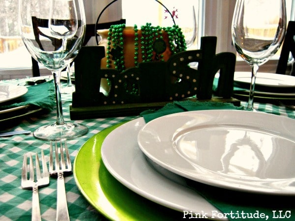 St Patricks Day Tablescape