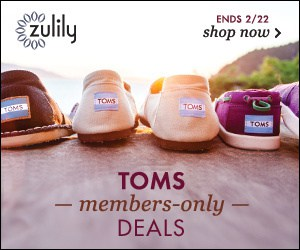Toms at Zulily ad