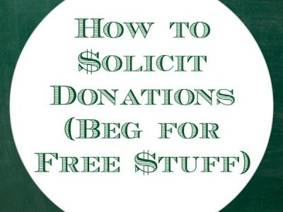"""How to solicit donations (beg for stuff)"""