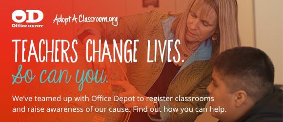 Office Depot ad for teachers