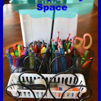 Holder for scissors, pencils, pens, markers, stapler, tape, glue