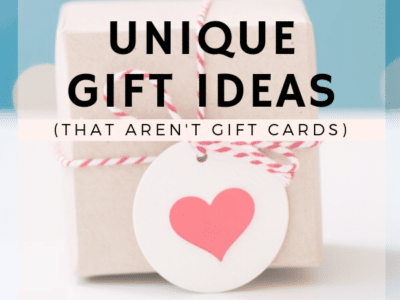 where to find unique gift ideas that arent gift cards