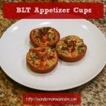 blt appetizer cups on white plate
