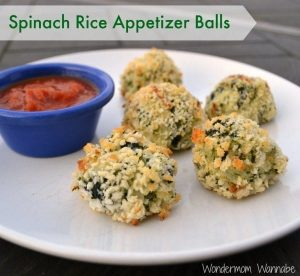 Spinach Rice Appetizer Balls