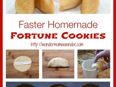Collage of how to make fortune cookies