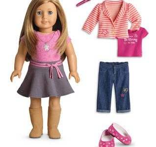 American girl doll with an extra outfit