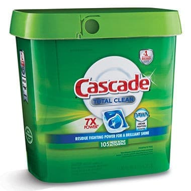 Clean More Than Just Dishes With a tub of Cascade Dishwasher Detergent