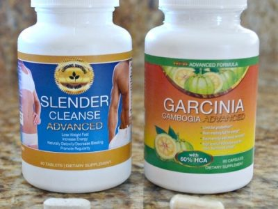 Bottle of Slender cleanse and bottle of Garcinia cambogia