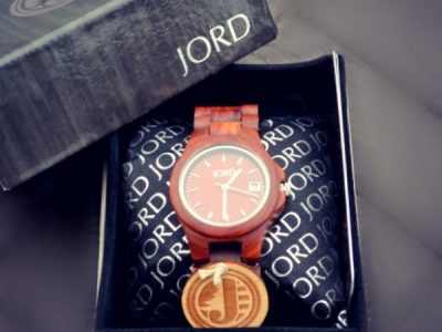 Jord wooden wrist watch in box