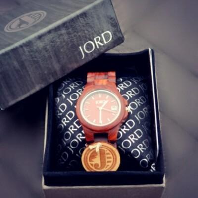 Jord wooden wrist watch in box