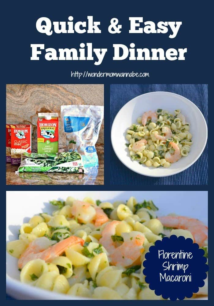 A quick and easy dinner recipe for busy weeknights when you don't have a lot of time but want to serve your family a meal you can feel good about. #shrimp #florentineshrimpmacaroni #macaroni #quickandeasydinner via @wondermomwannab