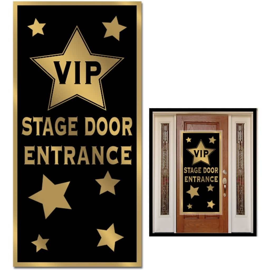 the front door of a house decorated with a VIP Entrance banner