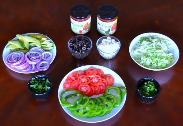 Chicken Tostada Toppings