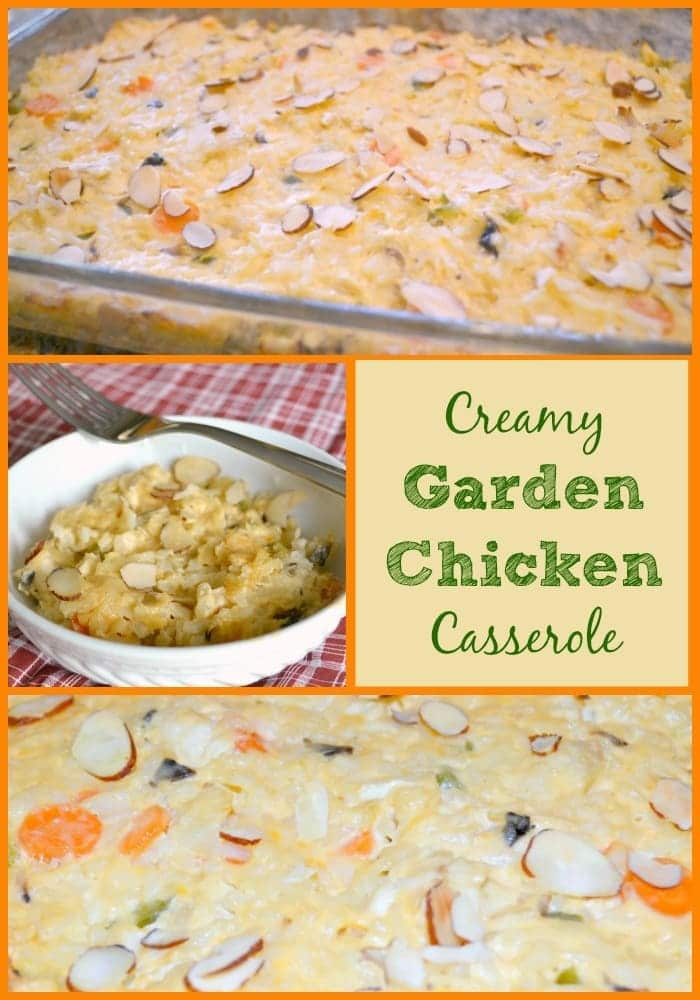 This creamy garden chicken casserole is always a hit at potlucks and makes a great meal for a friend in need. It's so colorful and flavorful. #chickencasserole #chicken #casserole #dinner via @wondermomwannab