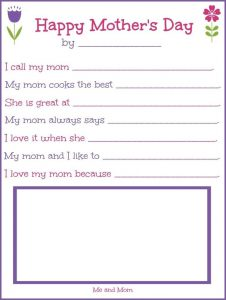 Mother's Day Printable Gift