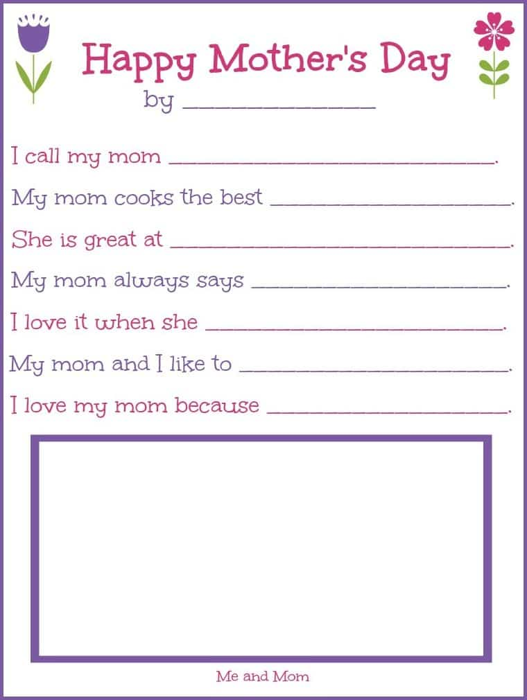 photo relating to Printable Mothers Day Pictures identified as Moms Working day Printable Present