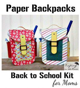 Paper Backpacks Full of Teacher Supplies