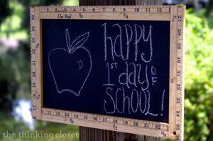 Ruler Frame Chalkboard