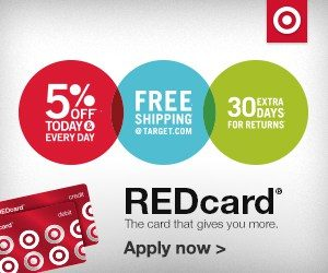 Have you signed up for Target REDcard yet? You should!
