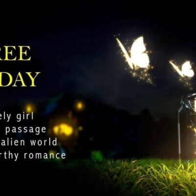 """""""Free today. A lonely girl a secret passage a magical alien world a swoon worthy romance"""""""