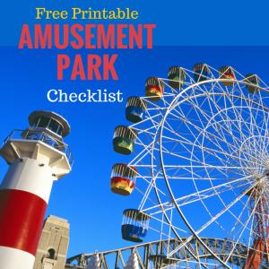 Printable Amusement Park Checklist