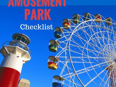 Amusement park checklist printable