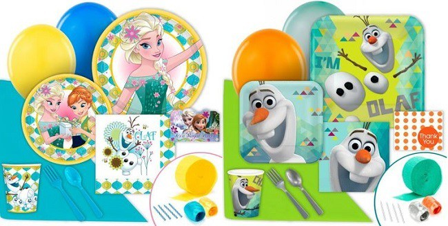 Frozen themed birthday supplies