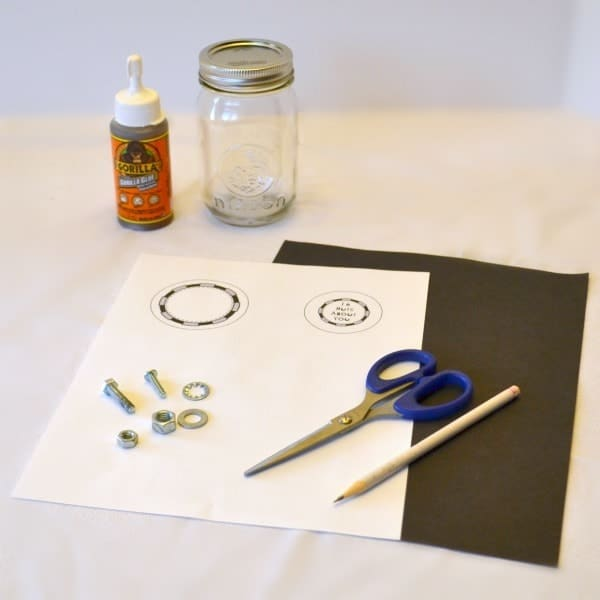 Supplies needed for the Nuts About You DIY Fathers Day Gift