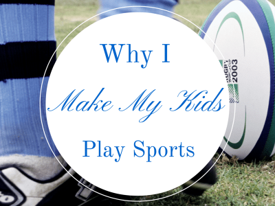 "Kicking a soccer ball. ""Why I make my kids play sports"""