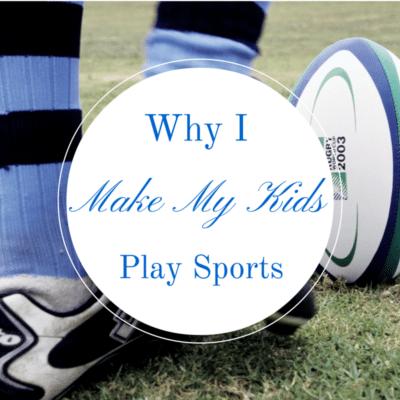 "Kicking a soccer ball. ""Why I make my kids play sports"""