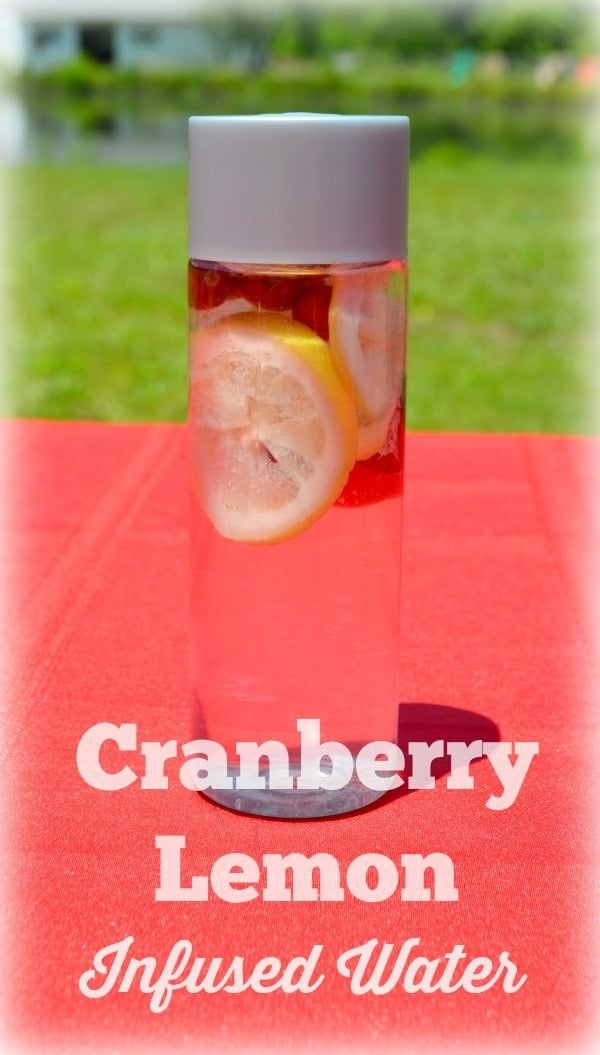 A super easy recipe for cranberry lemon infused water. Staying hydrated can be tasty!