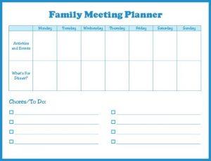 Family Meeting Planner