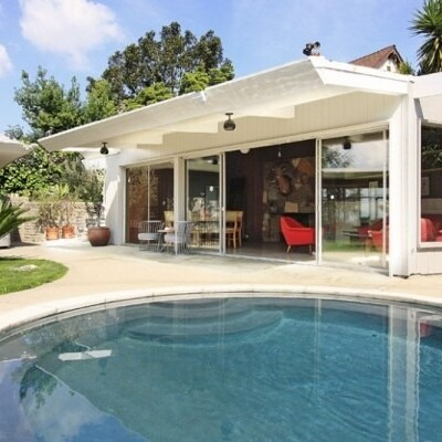 Beautiful white home with pool