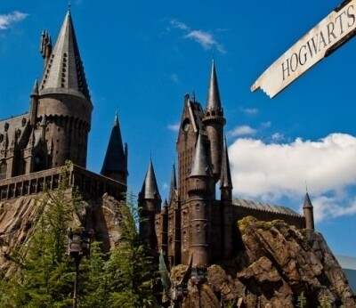 View of Hogwarts at Harry Potter Land