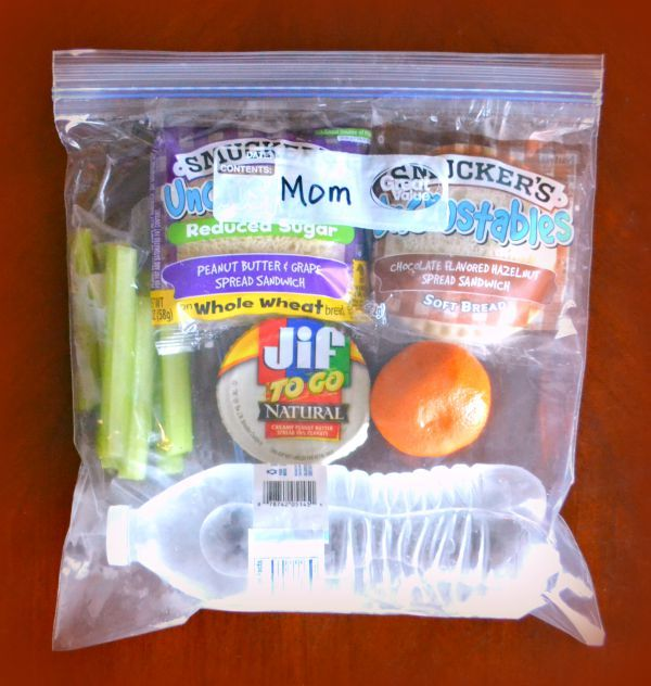 Snack Bag for a family road trip snackation