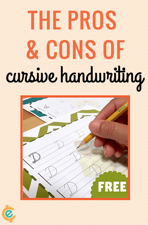 The pros and cons of cursive handwriting