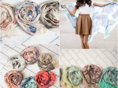 Different colored scarves
