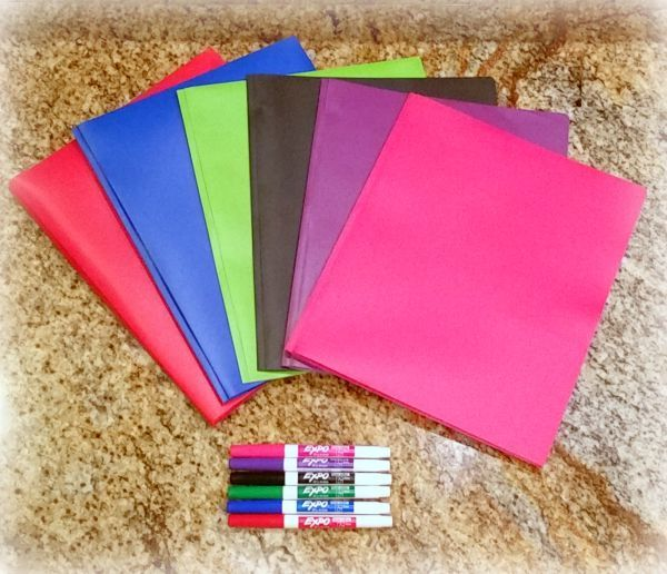 Color Coding with folders and markers