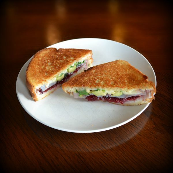 Grilled Turkey Cranberry Avocado Sandwich