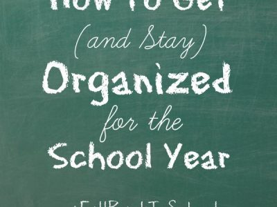 How to get (and stay) organized for the school year