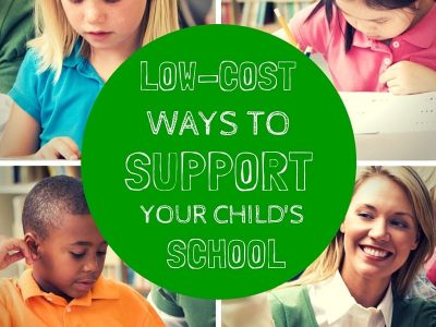 Low Cost Ways to Support Your Child's School